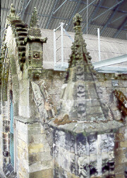 Weather-Damaged Finials of Historic Rosslyn Chapel Await Restoration. copyright © Glenn Loney/The Everett Collection